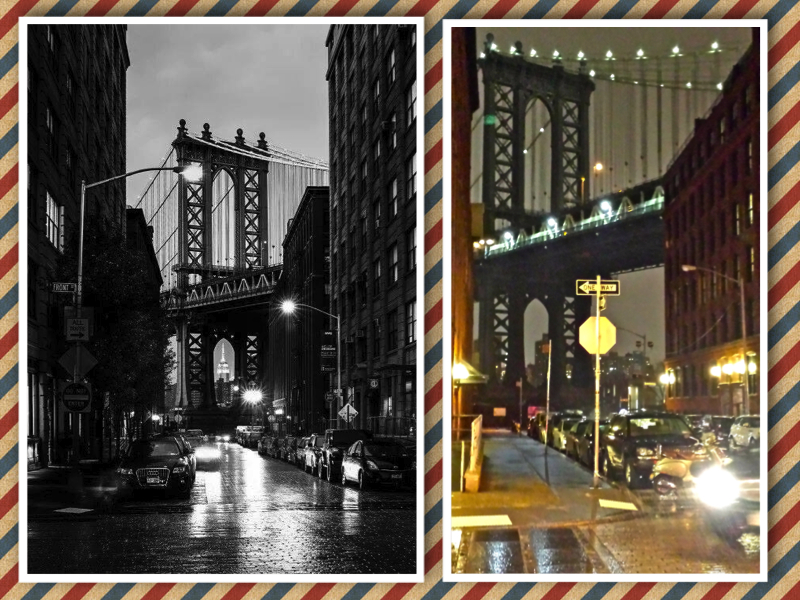 New York Brooklyn old and new collage