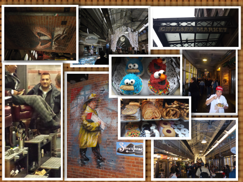 New York Chelsea Market collage