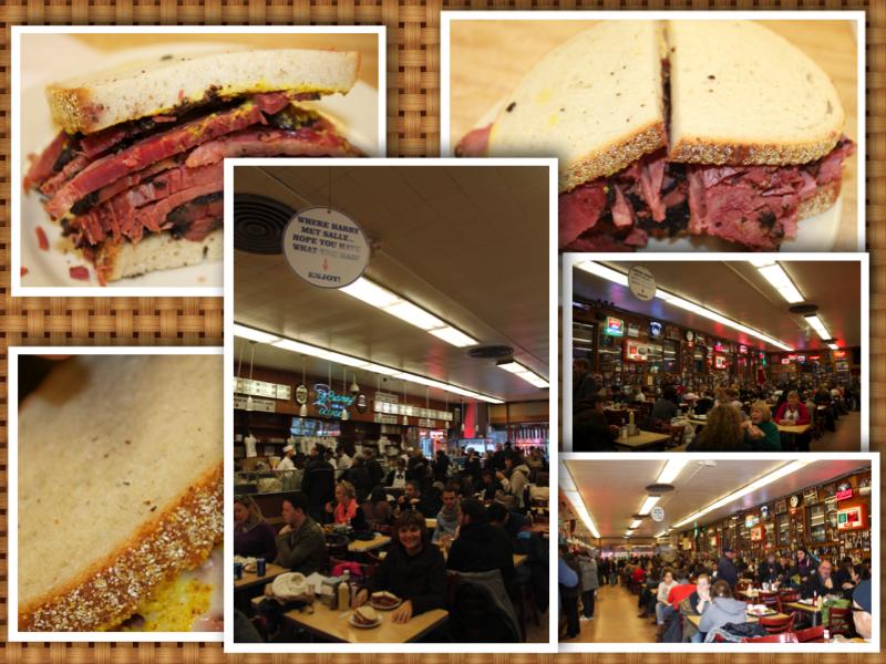 New York Dine at Katz's collage