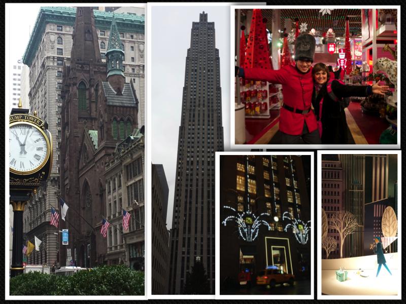 New York Fifth Avenue Tiffanys FAO Schwatz collage