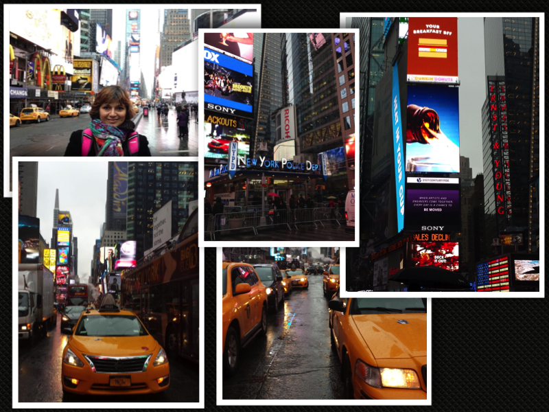 New York Times Square Broadway collage