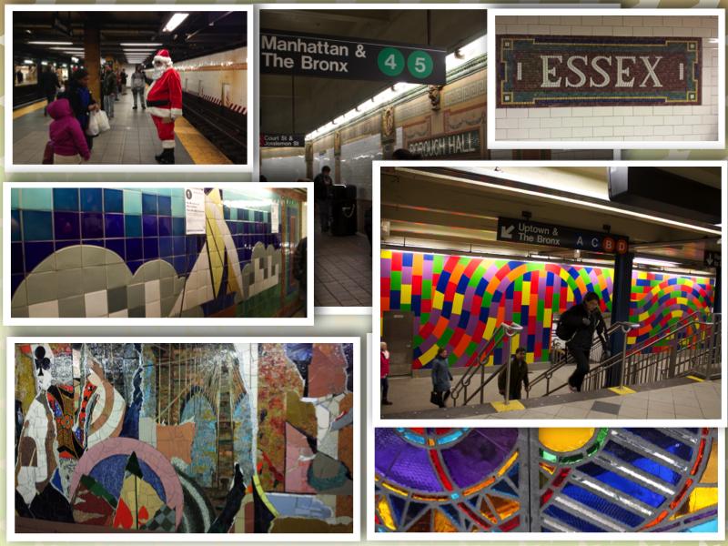 New York Underground collage