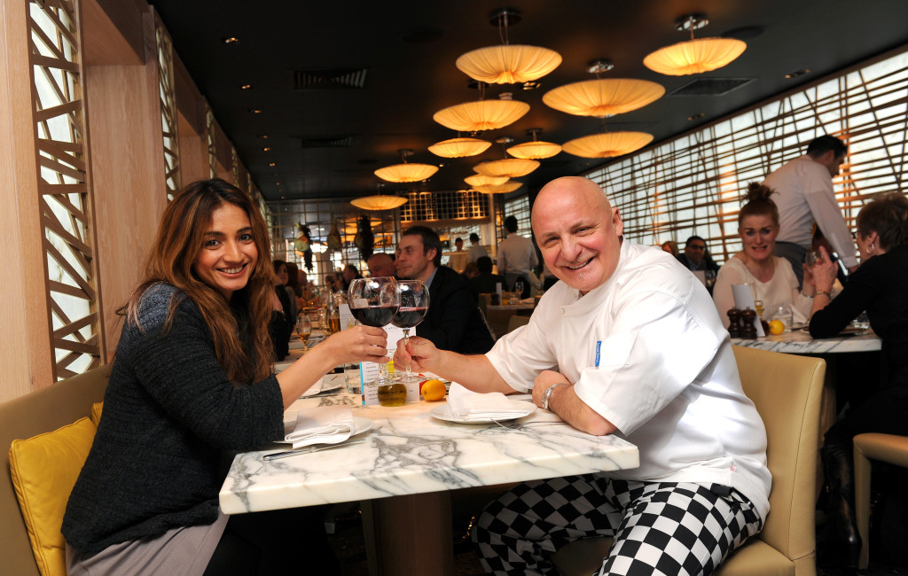 Chef Aldo Zilli with Sanjeeta Bains. Copyright 2013 © Sam Bagnall