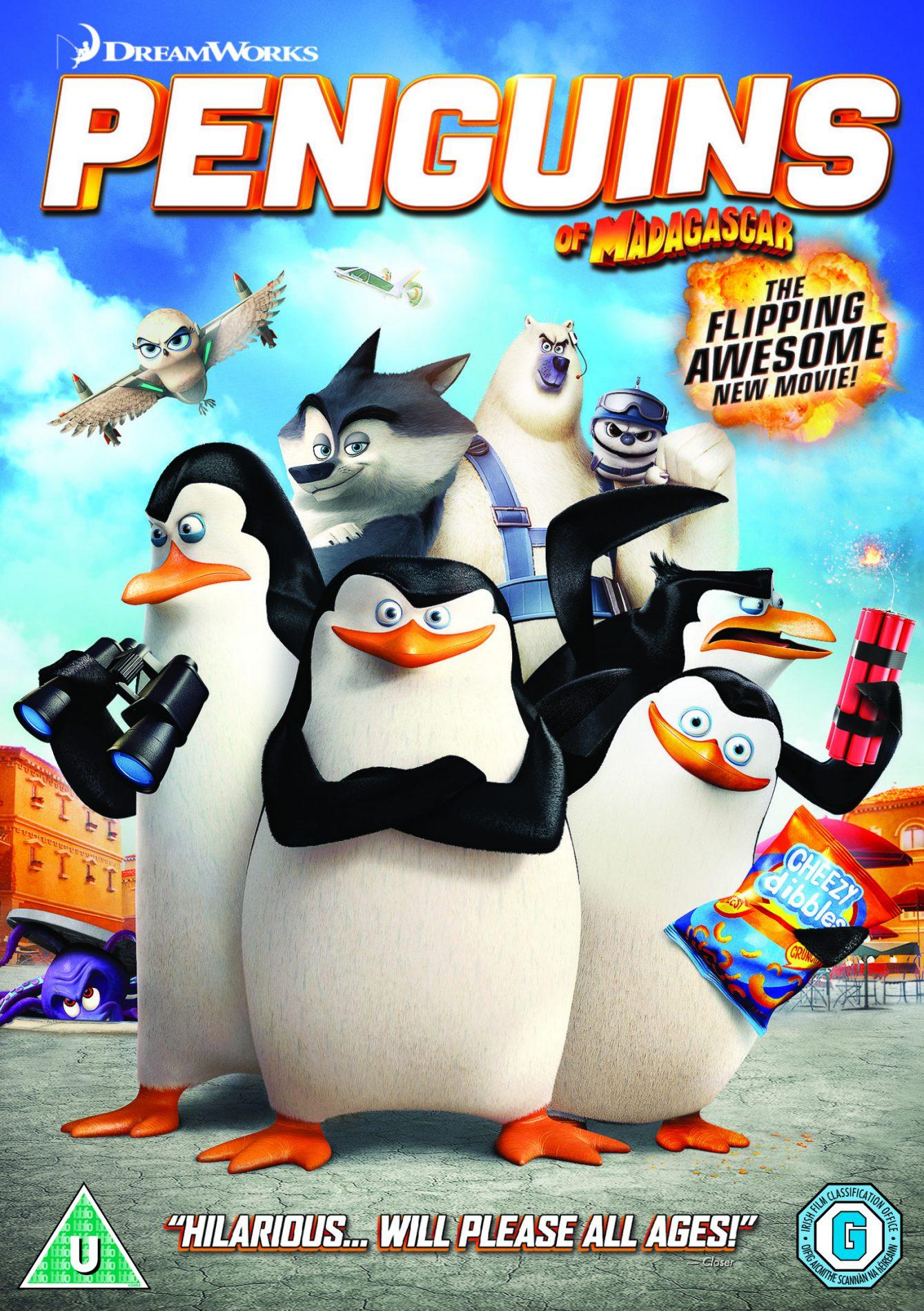 comp penguins of Madagascar DVD 2D