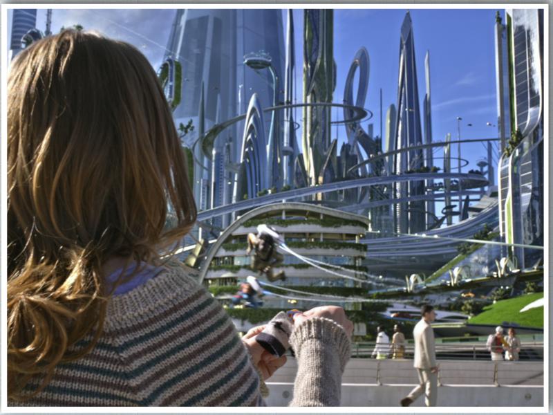 Disney's Tomorrowland movie futuristic landscape