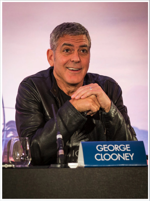 """Actor George Clooney attends the European press conference of Disney's """"Tomorrowland: A World Beyond"""" on May 18 in London, UK (Credit : James Gillham / StingMedia.co.uk) JAMES GILLHAM/STING MEDIA"""
