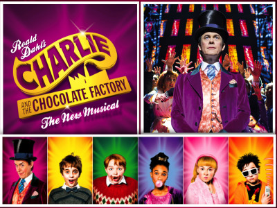 charlie and the chocolate factory poster collage