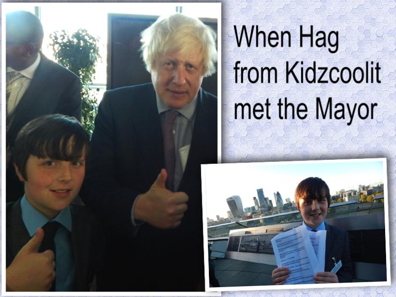 Hag meets the Mayor London Mums magazine collage