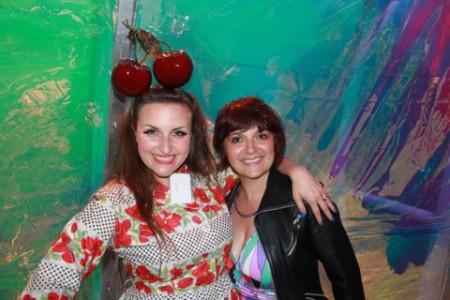 Laura Dockrill with London Mums magazine Editor Monica Costa