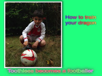 Toothless becomes a footballer