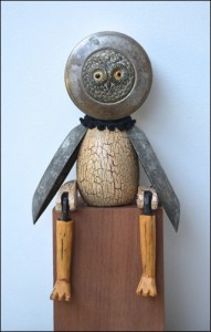 putney artists open house Sitting Owl by Sophie Marsham