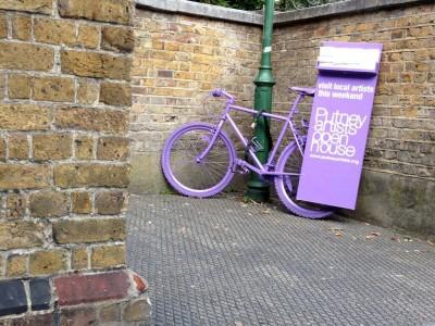 putney artists open house purple bike