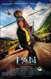 PAN postcard monica sword fighting pirate