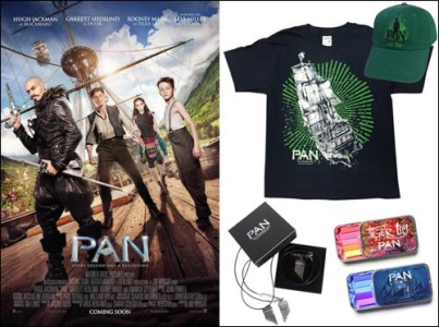 PAN hugh jackman movie kids set merchandising competition