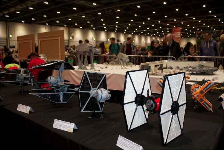 brick lego show star wars installation