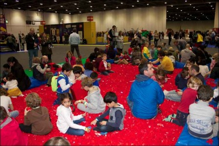 brick lego show swimming in lego pits