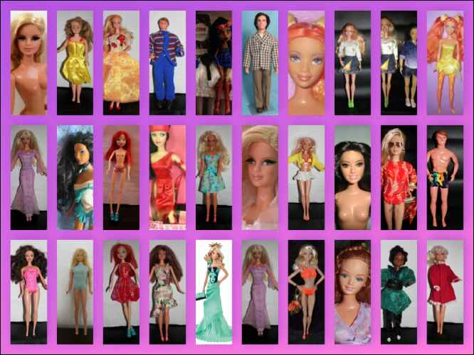 Barbie collections collage