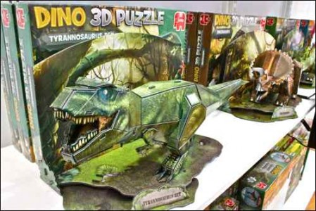 PG20-21 TOY TRENDS 3D puzzles images - Jumbo 3D puzzle dinosaur trex