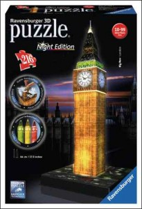 PG20-21 TOY TRENDS 3D puzzles images - Ravensburger big ben night version