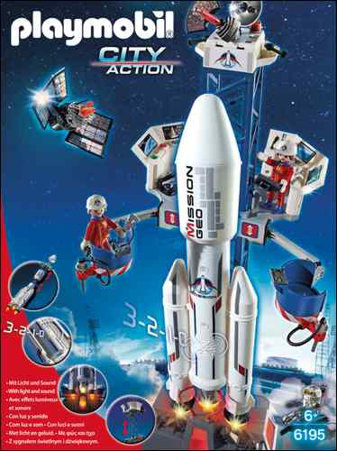 PG20-21 TOY TRENDS Space PLAYMOBIL Space Rocket with Launch Site