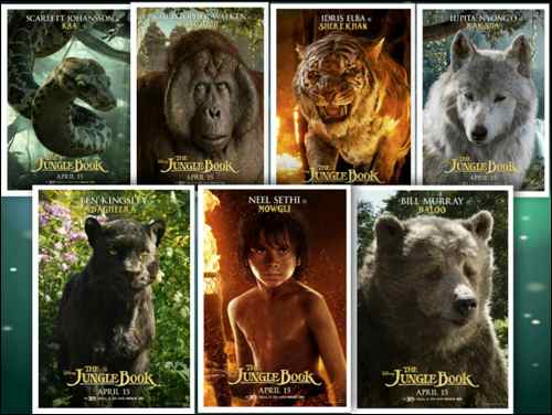 The Jungle book posters collage