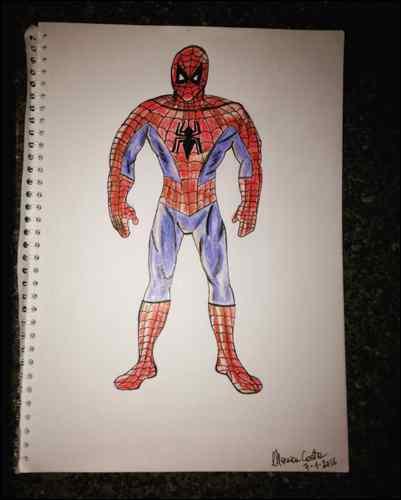 monica spiderman drawing comic superhero IMG_2608