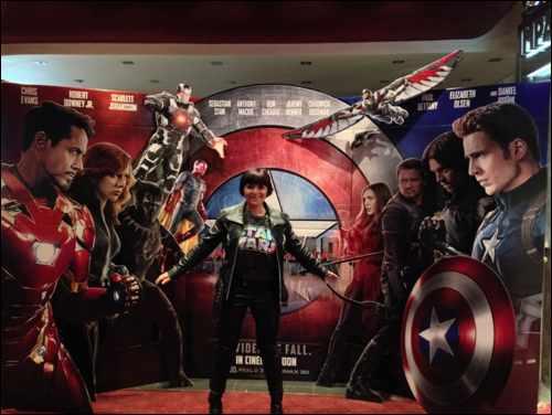 monica film captain america