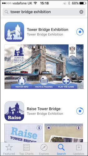 Tower bridge exhibition app family trail