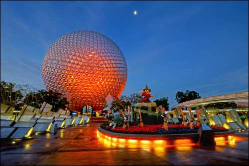 travel with kids epcot disney mickey mouse