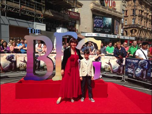 BFG premiere red carpet monica diego