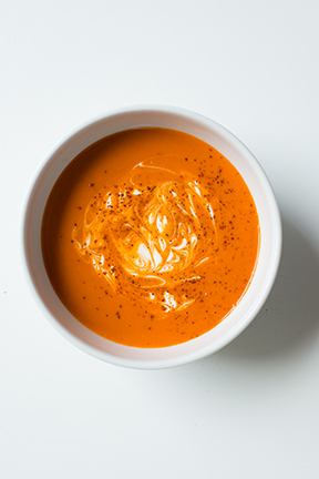 blazingly hot tomato soup