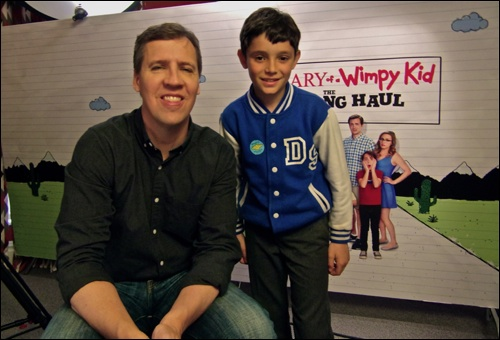 Us Author Jeff Kinney Chats To Superfan Diego About Wimpykidmovie