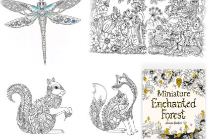 book collage miniature enchanted forest