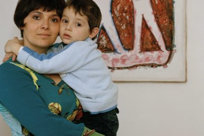 In this photo by pic Abi Browlie I am posing with my son Diego when he was 3 years old