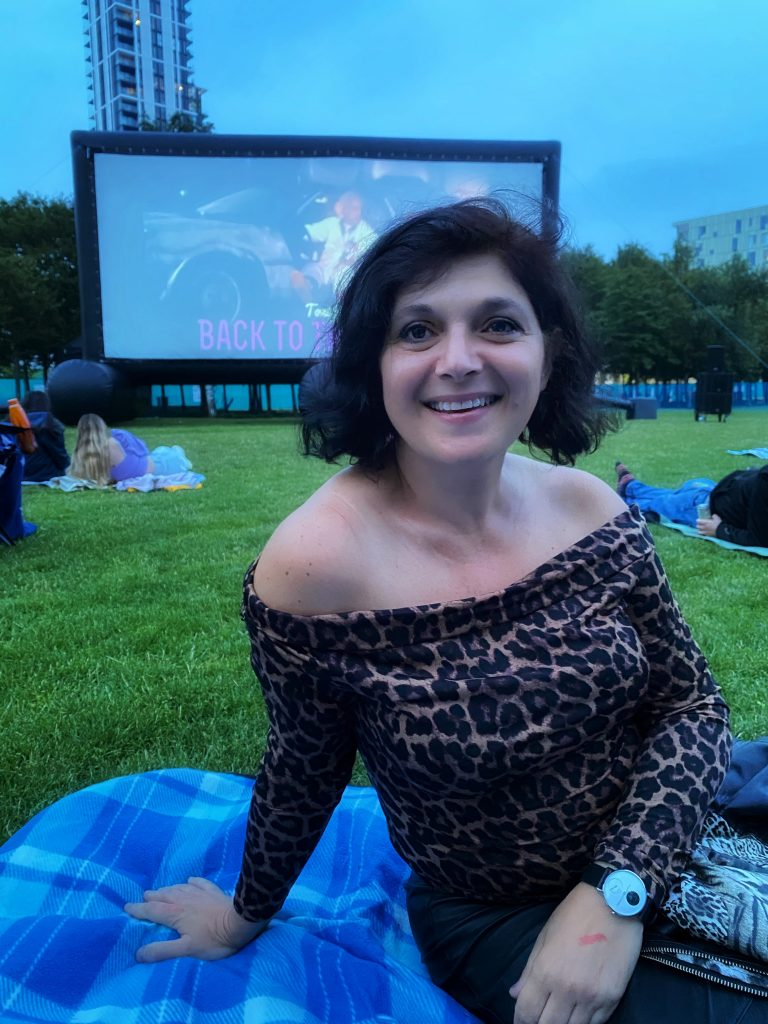 Monica Costa outdoor cinema london mums magazine